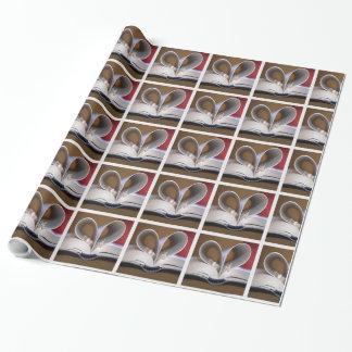 Papier Cadeau Papier d'enveloppe de carrés blancs d'anneaux de