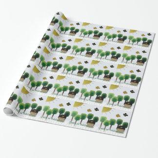 Papier Cadeau Papier suédois d'enveloppe d'art de paysage de