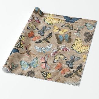 Papier Cadeau Papillon rustique