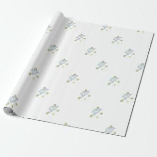 Papier Cadeau Parapluie bleu