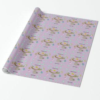Papier Cadeau Paresses paresseuses d'étreinte - papier