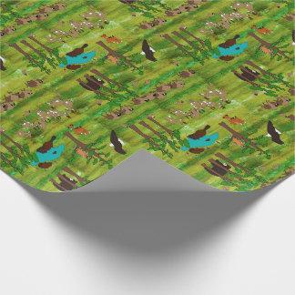 Papier Cadeau Paysage en bois de créature d'insigne