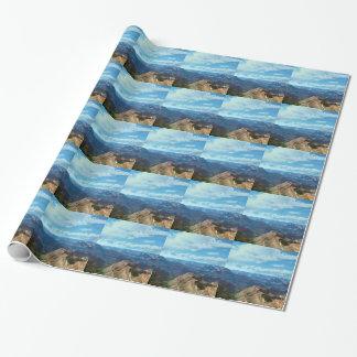 Papier Cadeau Paysages américains de gammes de montagne de