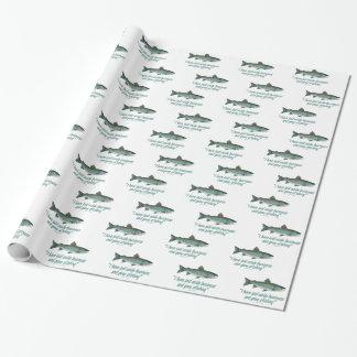 Papier Cadeau Pêche de mouche de char