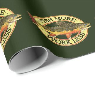 Papier Cadeau Pêche de mouche de truite de ruisseau