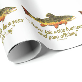 Papier Cadeau Pêche de mouche pour la truite