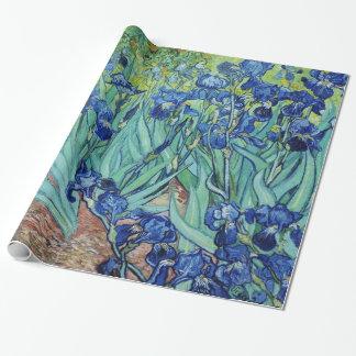 Papier Cadeau Peinture florale vintage, iris, Vincent van Gogh