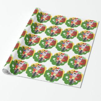 Papier Cadeau Père Noël avec le sac de Goodie