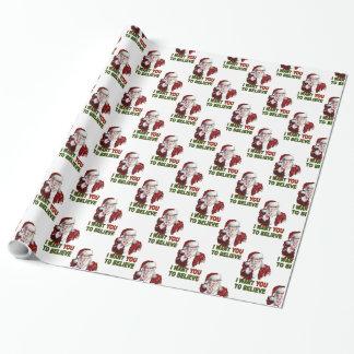 Papier Cadeau Père Noël recrutant l'affiche
