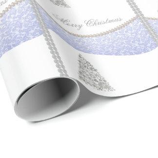 Papier Cadeau Perle joyeuse adorable de damassé d'hiver d'arbre