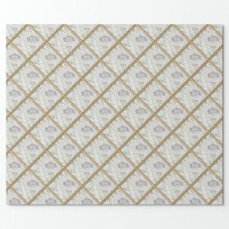 Papier Cadeau Perles imprimées par photo de papier d'emballage