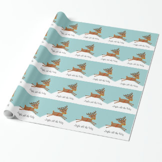 Papier Cadeau Petit tintement mignon de renne complètement