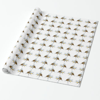 Papier Cadeau Peu de papier d'emballage d'abeille de miel