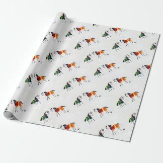 Papier Cadeau Peu de poneys d'arc-en-ciel