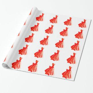 Papier Cadeau Peu papier d'emballage de robe rouge