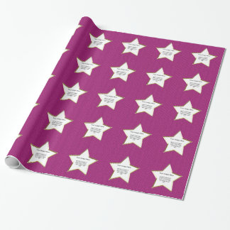 Papier Cadeau PhotoTemplate - point de Stockinette fuchsia de