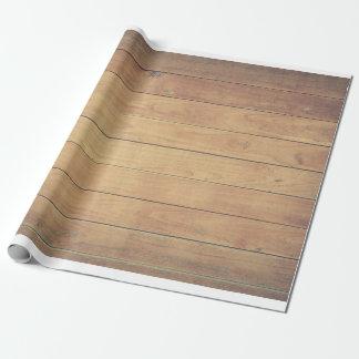 Papier Cadeau Pin pâle de conception de hangar en bois de