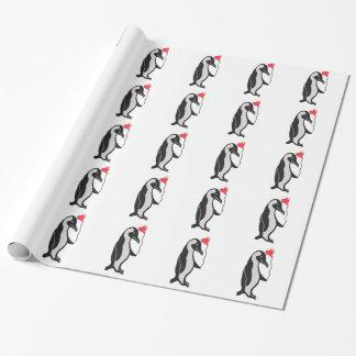 Papier Cadeau Pingouin avec le papier d'emballage de motif de