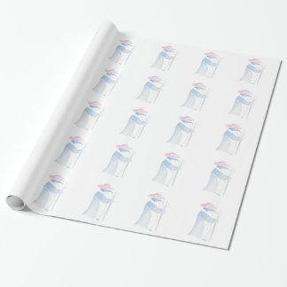 Papier Cadeau Pingouin d'agriculteur