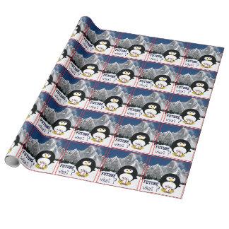 Papier Cadeau Pingouin de bébé de base-ball