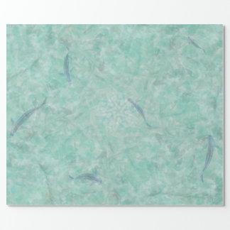 Papier Cadeau Piscine abstraite d'Aqua et enveloppe de cadeau de
