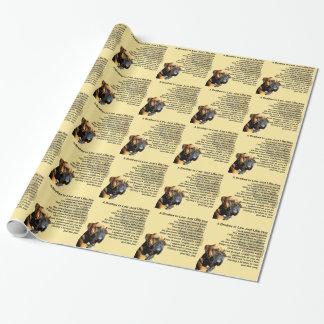 Papier Cadeau Poème de beau-frère - chien de boxeur