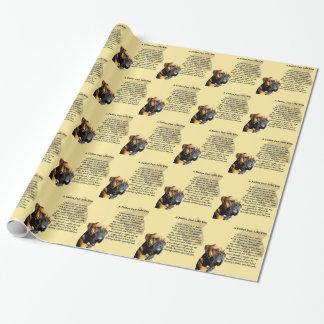 Papier Cadeau Poème de père - conception de chien de boxeur