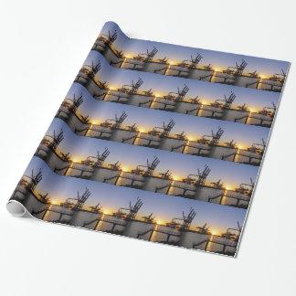 Papier Cadeau port de Hambourg