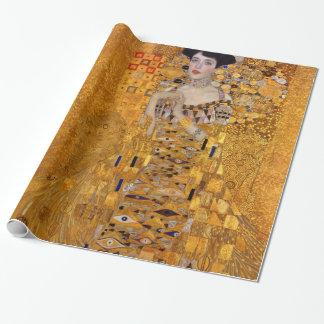 Papier Cadeau Portrait de Gustav Klimt de cru d'Adele GalleryHD