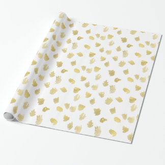 Papier Cadeau Poster de animal de blanc d'or