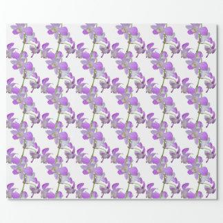 Papier Cadeau Pourpre et blanc d'orchidée