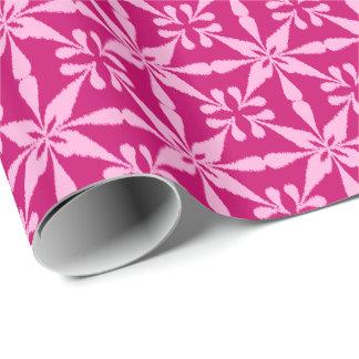 Papier Cadeau Profil sous convention astérisque d'Ikat - rose de