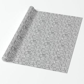 Papier Cadeau Puzzle de charbon de bois