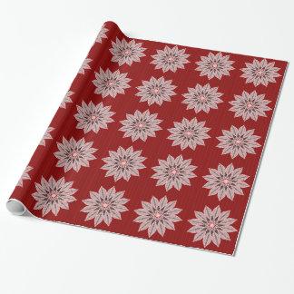 Papier Cadeau Rayonnement rose de Noël