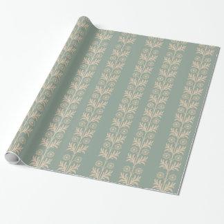 Papier Cadeau Rayure florale d'arts et de métiers d'étain