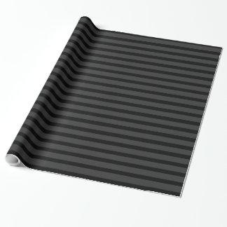 Papier Cadeau Rayure noire de gris de charbon de bois de smoking