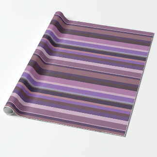 Papier Cadeau Rayures horizontales mauve