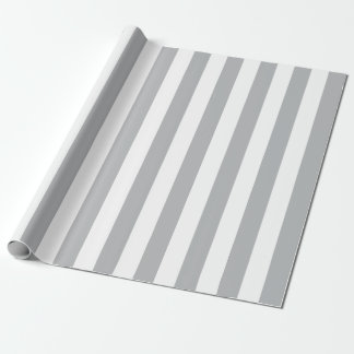 Papier Cadeau Rayures verticales grises