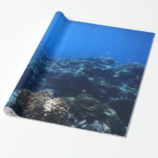 Papier Cadeau Récif coralien et poissons tropicaux