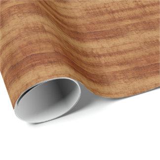 Papier Cadeau Regard du bois de grain d'acacia bouclé de Koa