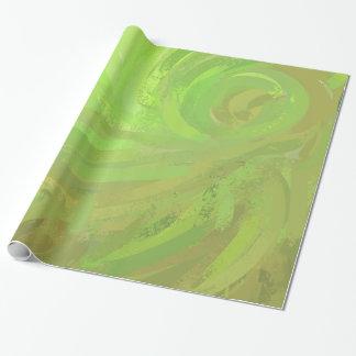 Papier Cadeau Remous de vert de coup de kiwi
