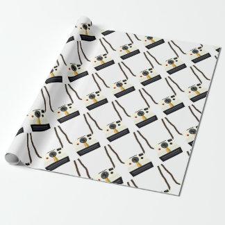 Papier Cadeau rétro appareil-photo avec la courroie