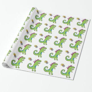 """Papier Cadeau Roary le T-Rex - papier d'emballage brillant 30"""" x"""