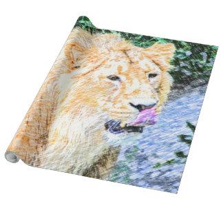 Papier Cadeau roi peu précis de lion