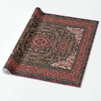 Papier Cadeau Rouge antique persan oriental