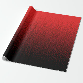 Papier Cadeau Rouge et gradient ondulé par noir