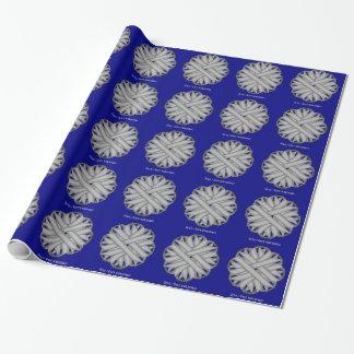 Papier Cadeau Ruban gris/gris de fleur