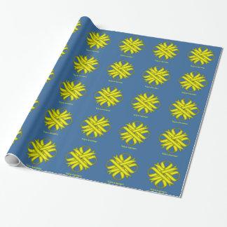 Papier Cadeau Ruban jaune de trèfle par Kenneth Yoncich