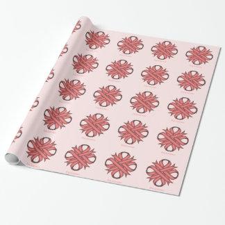 Papier Cadeau Ruban rose de trèfle par Kenneth Yoncich