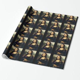 Papier Cadeau Ruban rose Mona Lisa